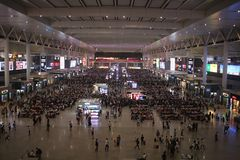Drevstation slutliga Hongqiao Shanghai Royaltyfri Fotografi