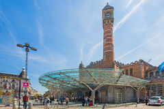 Drevstationen av Bruges i Belgien Royaltyfri Fotografi