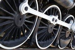 drevväggen wheels white Arkivbilder