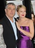 Drew Barrymore Robert De Niro Royaltyfri Fotografi