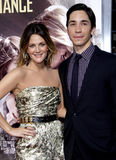 Drew Barrymore and Justin Long Stock Image