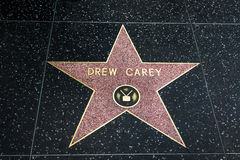 Drew Carey Star on the Hollywood Walk of  Fame. Royalty Free Stock Photo