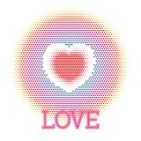 Drew heart. Abstract love concept Royalty Free Stock Photography
