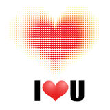 Drew heart. Abstract love concept Stock Photo