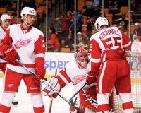 Drew Miller e Niklas Kronwall, Detroit Red Wings Imagens de Stock Royalty Free