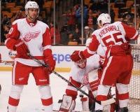 Drew Miller e Niklas Kronwall, Detroit Red Wings Fotos de Stock Royalty Free