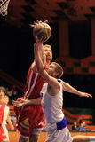 Drew Naymick and Michal Vocetka - basketball Stock Photography