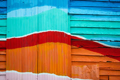 Drewna ścienny kolorowy dla tła Fotografia Stock