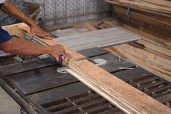 Drewna deskowy rozcięcie Fotografia Stock