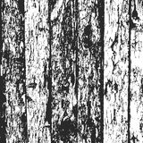 Drewna grunge płotowy tło, czarny i biały sosny barkentyny tekstura wektor Zdjęcie Royalty Free