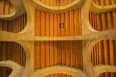 Drewna i kamienia dachowa budowa Obraz Stock