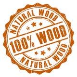 100 drewna naturalny znaczek Zdjęcia Stock