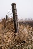 Drewna ogrodzenia poczta Obrazy Stock