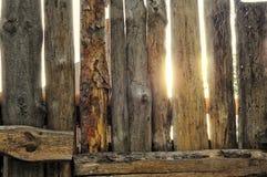 Drewna ogrodzenie Zdjęcia Royalty Free