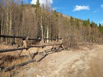 Drewna ogrodzenie w Kolorado obrazy stock