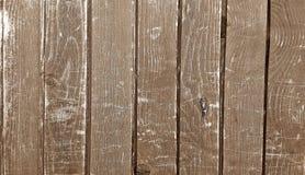 Drewna ogrodzenie w ulicie dla tła Zdjęcia Stock
