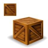 Drewna pudełko ilustracja wektor