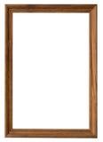 Drewna ramowy vertical z ścinek ścieżką na odosobnionym bielu Fotografia Royalty Free