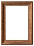Drewna ramowy vertical z ścinek ścieżką na odosobnionym bielu Zdjęcie Royalty Free