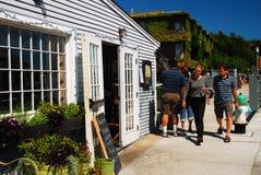 Drewna Robić dziurę, Cape Cod, centrum miasta Fotografia Royalty Free