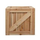 Drewna tło pudełkowaty biały Zdjęcia Royalty Free