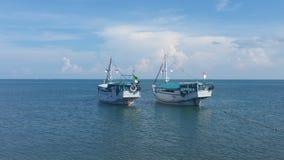 2 Drewniana łódź obraz royalty free