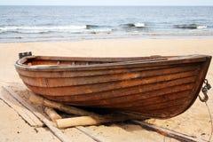 Drewniana łódź Fotografia Royalty Free