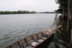 Drewniana łódź obraz stock