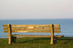 drewniana ławka Obraz Royalty Free