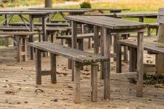 Drewniana ławka Fotografia Stock