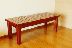 Drewniana ławka w kącie Zdjęcie Royalty Free