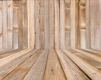 Drewniana ściana i drewniana podłoga Zdjęcia Stock