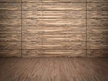 Drewniana ściana i podłoga Zdjęcia Stock