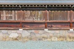Drewniana ściana Japońska świątynia obrazy stock