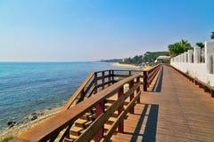 Drewniana ścieżka na plaży zdjęcie royalty free