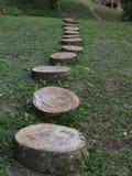Drewniana ścieżka w afrykańskim ecolodge zdjęcia stock