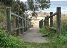 Drewniana ścieżka wyrzucać na brzeg w Australia Zdjęcia Stock