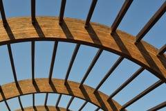 drewniana abstrakcjonistyczna budowa obraz royalty free