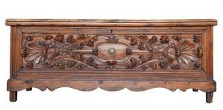 drewniana antykwarska klatka piersiowa Zdjęcie Stock
