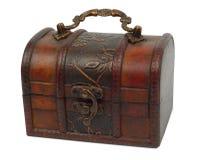 drewniana antykwarska klatka piersiowa Zdjęcia Stock