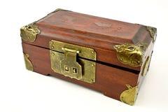 drewniana antykwarska klatka piersiowa Obraz Stock