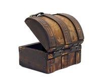 drewniana antykwarska klatka piersiowa Obrazy Stock