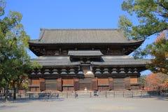 Drewniana architektura świątynia w Kyoto obrazy stock