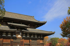 Drewniana architektura świątynia w Kyoto zdjęcie royalty free