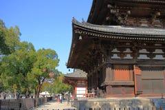 Drewniana architektura świątynia w Kyoto zdjęcia royalty free