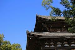 Drewniana architektura świątynia w Kyoto obraz royalty free