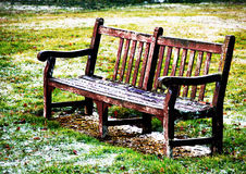 Drewniana ławka Zdjęcie Royalty Free