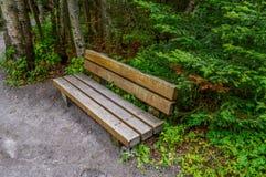 Drewniana ławka Zdjęcie Stock
