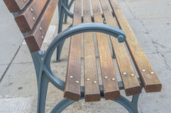 Drewniana ławka w starym porcie Zdjęcie Royalty Free