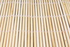 Drewniana bambusowa tekstura, suszi matowa tekstura Pusty bambusowy suszi maty tła wzoru japończyk chiński życie styl Fotografia Royalty Free
